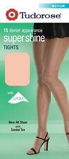 New Women's Tudorose 15 Denier Panty Hose Super Shine Tights With Sandal Toe