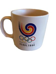 Vintage 1988 Seoul Olympic Korea Archeryl Tiger Mug Pink 1983 SLOOC
