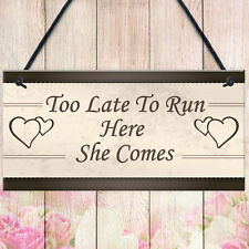 Wedding Decor Plaque Shabby Chic Signs Bride Groom Reception Mr &amp Mrs Gifts