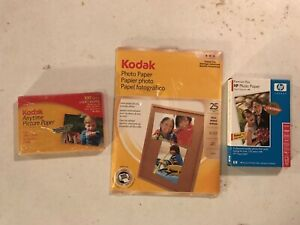 Photo Paper Lot Kodak With HP Paper