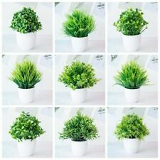 1pc Artificial Plants Green Bonsai Small Tree Pot Plants Fake Flower Potted