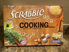 SCRABBLE COOKING EDITION (2011) USAOPOLY HASBRO BOARD GAME 100% COMPLETE FREE SH