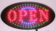 Animated Oval Led Neon Light Open Sign Super Size U161