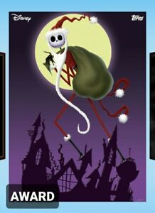 TOPPS DISNEY COLLECT NIGHTMARE BEFORE CHRISTMAS COLOR POSTER AWARD SINGLE CARD