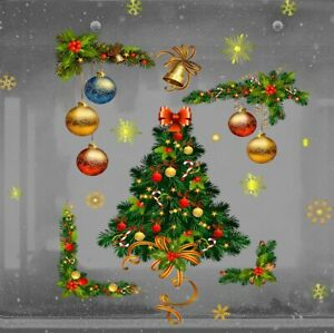 Christmas Balls Wall STICKERS Window Glass Decals Xmas Decorations Home Decor