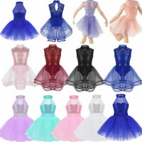 Girls Kids Ballet Tutu Dancing Dress Dancewear Leotard Ballerina Fancy Costume