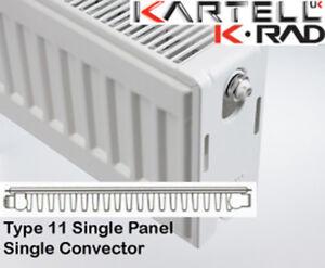 Kartell K-Rad Single Panel Type 11 Compact Radiator 400mm High Various Widths