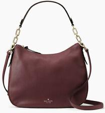 NWT Kate Spade Mulberry Vivian Dark Cherry Leather Hobo WKRU4138 $379 Shoulder