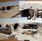 4 x ORIGINAL 1st GULF WAR COLOUR PHOTOS: ABANDONED IRAQI POSITIONS (30x20cm)