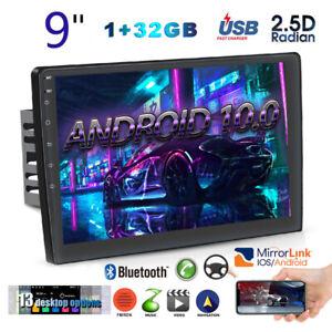 "9"" Android 10.0 2Din Car Radio Stereo w/Bluetooth MP5 GPS Navi Wifi USB 1GB+32GB"