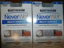 2 RUST-OLEUM NEVERWET MULTI SURFACE FROSTED CLEAR LIQUID REPELLING 18 OZ.