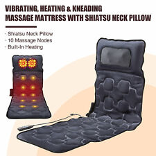 Heated Massage Mat With 12 Nodes of Shiatsu & Vibrating Body Muscle Pain Relief