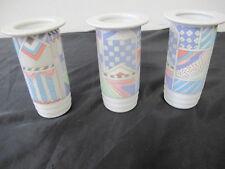 3 kleine Moderne Blumenvasen Trio Vasen Thomas Porzellan  Höhe 10 cm,