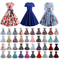 Women Vintage 1950s 60s Evening Party Prom Gown Ladies Rockabilly Swing Dresses