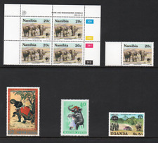 Elephants on Stamps Worldwide Selection