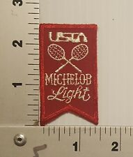 1980's USTA MICHELOB LEAGUE TENNIS VINTAGE EMBROIDERED PATCH #2