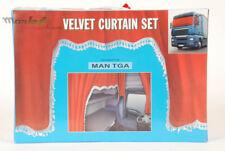 LKW Gardinen Set Samt Optik Rot Velvet MAN TGA Fenster Vorhänge Fahrerhaus