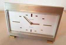 Sehr dekorative Metall Tischuhr DELUXE Elomatic 50er-60er Jahre Design (H321)