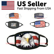 American Flag Bald Eagle Patriotic Reusable Protection Face Cover TRUMP Mask KAG
