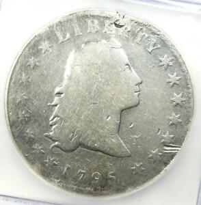 1795 Flowing Hair Silver Dollar $1 - ICG G4 Details (Damage) - Rare Coin!