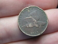 1857 Flying Eagle Penny Cent, Vg/Fine Details