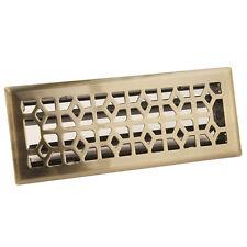 "4"" x 12"" Antique Brass Metal Floor Diffuser Register Vent Cover Heating AC HVAC"