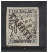 TAHITI - 1893, 20 c Nero Affrancatura dovuta TIMBRO-M / M-SG D26