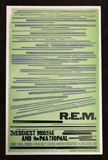R.E.M. Modest Mouse National Hatch Show Print Concert Poster Raleigh Nc 2008 Rem