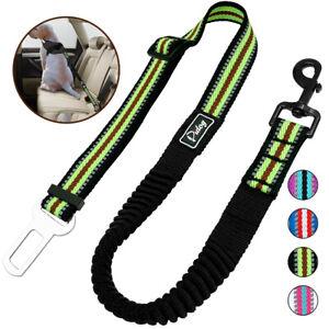 Adjustable Dog Safety Car Seat Belt Durable Elastic Dog Harness Leash Reflective