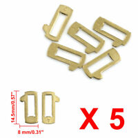 5pcs Gold Tone Metal Car Lock Reed Key Vehicle Locking Plate Gasket for Hyundai