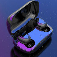TWS Bluetooth 5.0 Kopfhörer Stereo Ohrhörer In-Ear Wireless Headset mit Ladebox