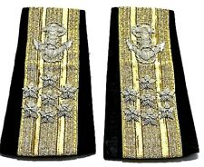 NEW US NAVY SOFT SHOULDER BOARDS ADMIRAL SEVEN STARS UNIQUE NON ISSUED CP MADE