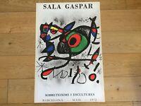 Original Exhibition Poster MIRÓ Cartel Original - SALA GASPAR 1972 - 1000 Copies
