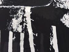 Georgette Viscose Fabric 100% (per metre) 'Black Sea Foam', dress fabric