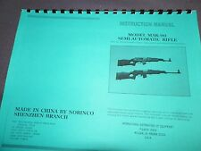 Norinco, Century Arms, Mak-90, Instruction Manual, 11 Pages