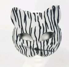 Halloween Costume Zebra Cat Mask Adult Disguise Masquerade Party Animal