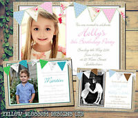 10 Personalised Kids Invites Birthday Party Invitations Thank You Joint Boy Girl