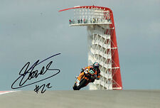Sam LOWES SIGNED Grand Prix Red Bull USA Moto2 Autograph 12x8 Photo AFTAL COA