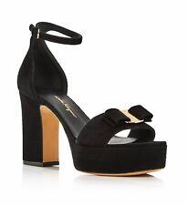 NIB SALVATORE FERRAGAMO Women's Eclipse Block-Heel Platform Sandals,size 11B