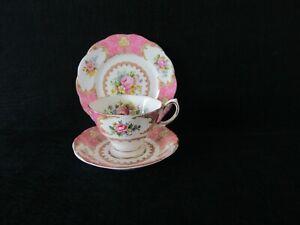Royal Albert Bone China Tea Trio Lady Carlyle Rd. 855022 Circa 1980