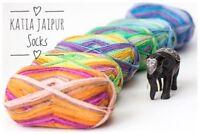 100g JAIPUR SOCKS KATIA Sockenwolle 4-fach Wolle FARBVERLAUF Socken ähnl.REGIA