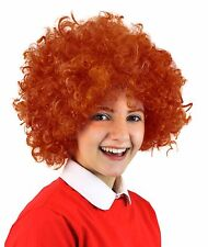 Annie Afro Wig Short Curly Orange Ginger Hair Musical Film Fancy Dress Costume