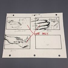ATTACK OF THE 50FT WOMAN - Production Used Storyboard, Daryl Hannah With Notes 2