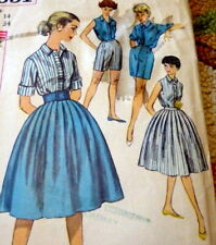 LOVELY VTG 1950s SKIRT BLOUSE BLOUSE SHORTS Sewing Pattern 14/34