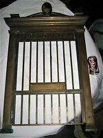 ANTIQUE USA BRASS RAILROAD TRAIN STATION DISCOUNT BANK TRACK TELLER DOOR WINDOW