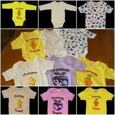 Lot Of 6 EcoBaby Cotton 2 Long Sleeve 4 Short Sleeve One Piece 3-6 Months