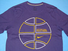 NWT NIKE Dri-Fit NORTHERN IOWA PANTHERS BASKETBALL UNI T-Shirt Men Size L Purple