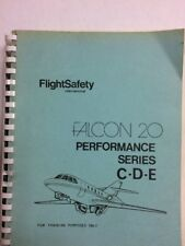 Falcon 20 FlightSafety Perfprmance Series C-D-E