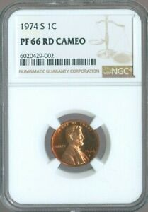 1977-S LINCOLN MEMORIAL CENT 1c NGC PF68 RD CAMEO QUALITY✔️