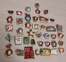 Badges Original USSR badge Red October Lenin comunism Russia political